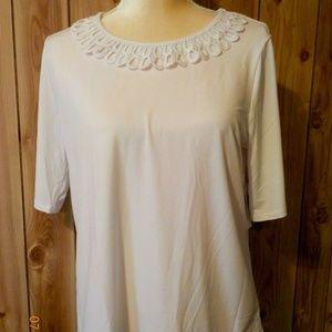 East 5th Womens' Short Sleeve Knit Blouse ~ Medium
